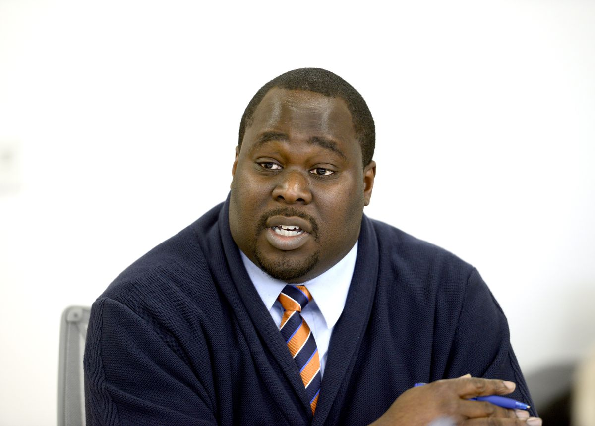 <small><strong>18th Ward aldermanic candidate Chuks Onyezia   Michael Schmidt/Sun-Times</strong></small>