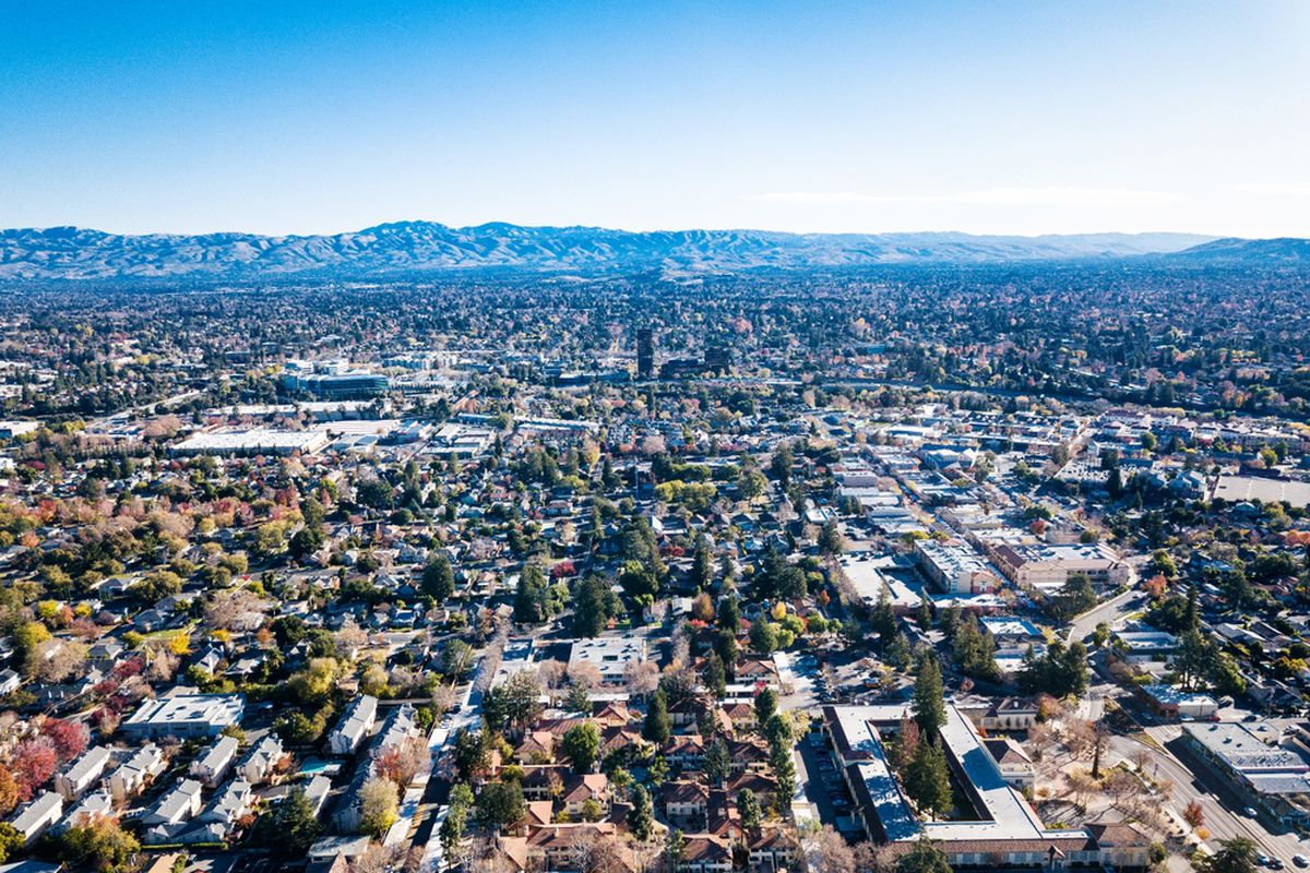 An aerial photo of Silicon Valley.