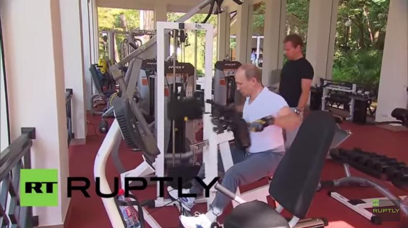 Putin workout video screenshot