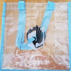 The clear bag itself.