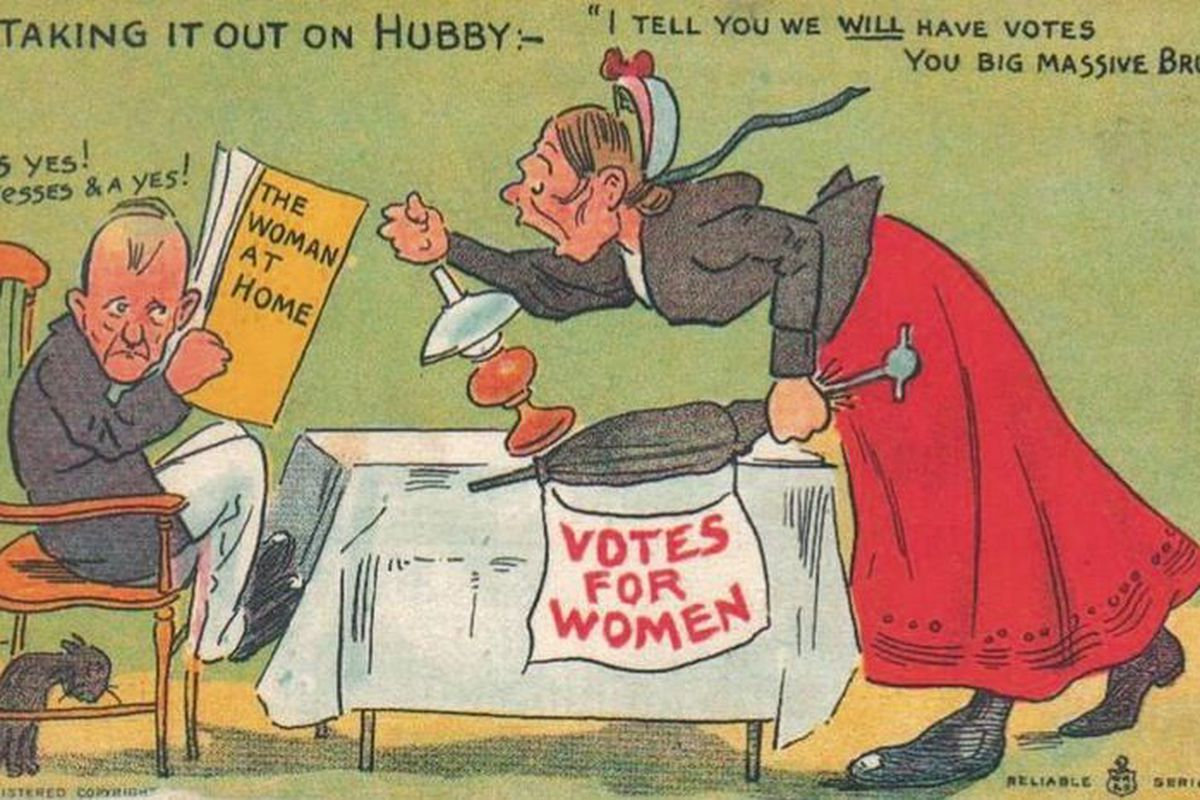 A poster from the suffragette era