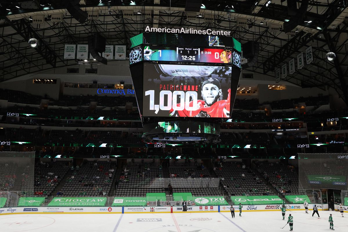 With the Stars allowing fans into the arena, a crowd of 4,211 was on hand to watch Patrick Kane's milestone game Tuesday.
