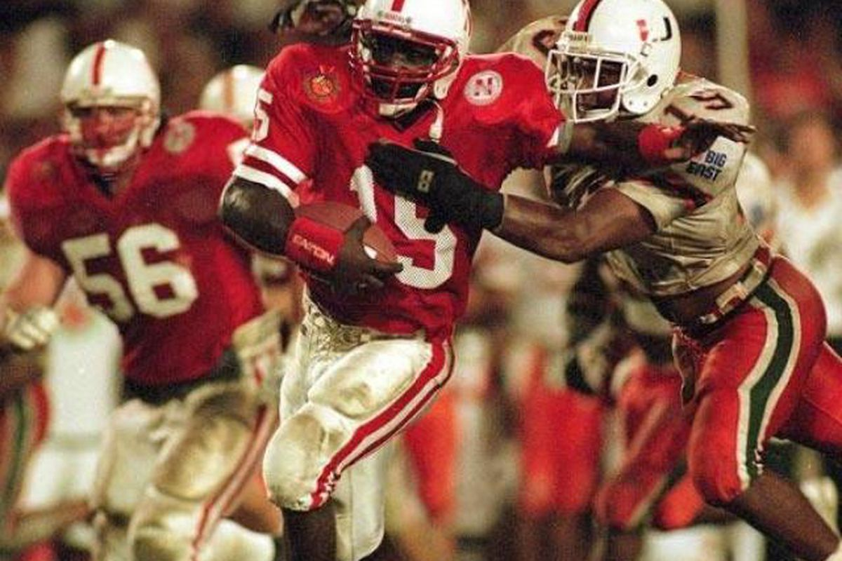 We laugh at Florida's inability to tackle Frazier, but late in the 1995 Orange Bowl, Miami had their problems as well.