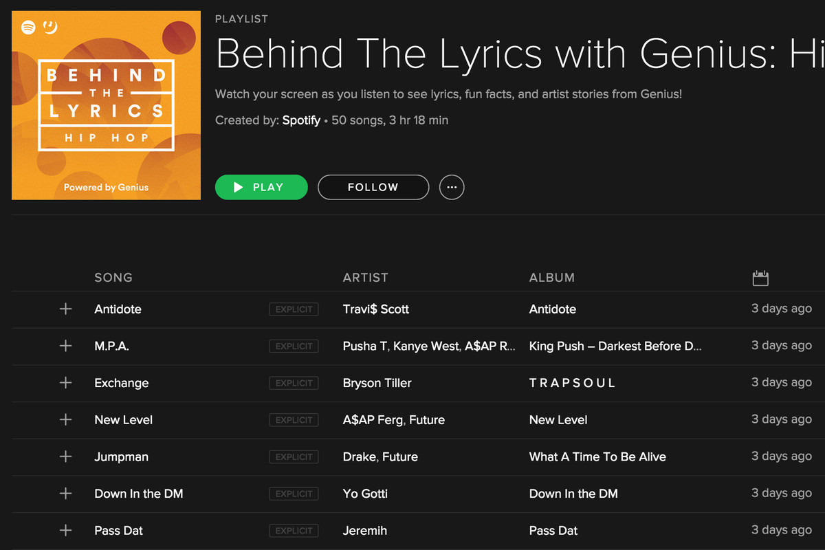 Spotify and Genius are collaborating on info-rich Behind the