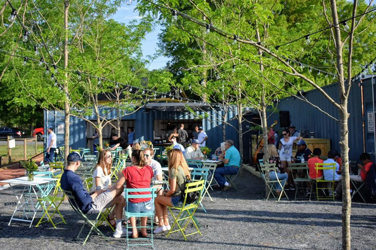 The Austell gathering spot has sprung, and here's a photo!