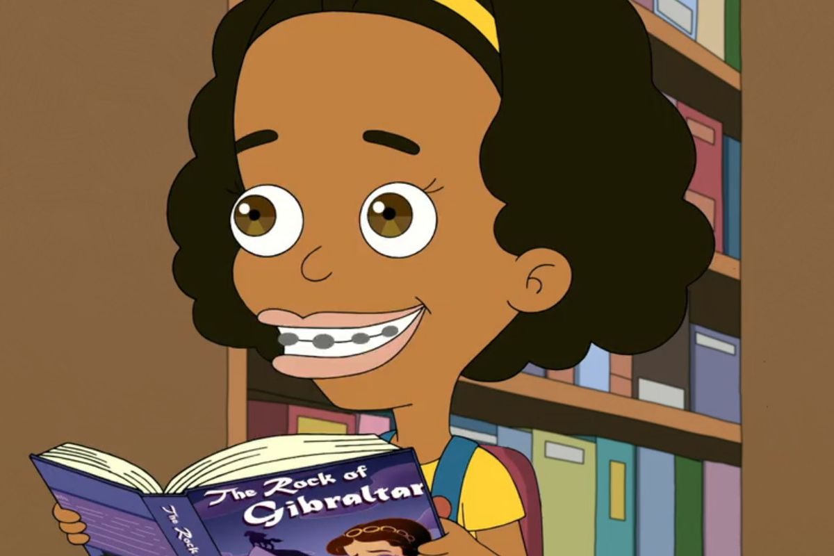 Missy from Big Mouth holding a book