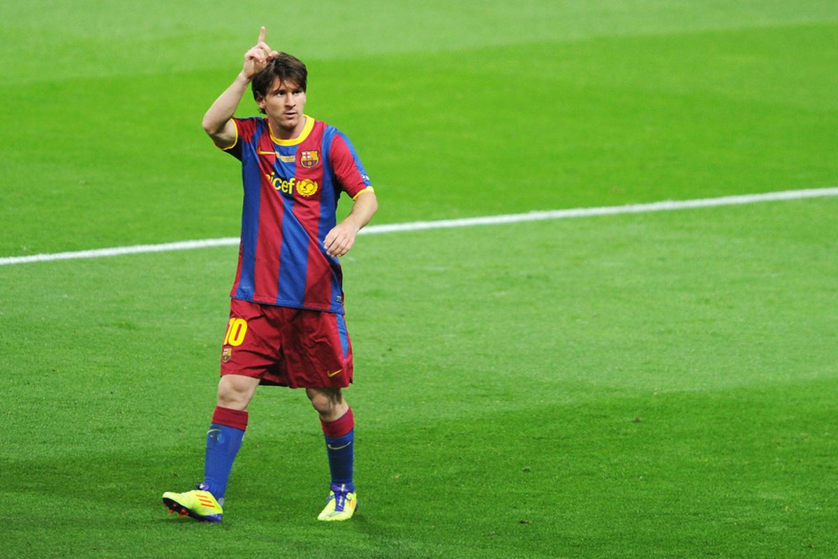 Messi scored twice in the charity match