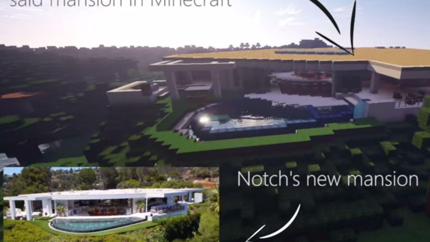 Someone Built Minecraft Creator Notch S New Home In Minecraft Vox