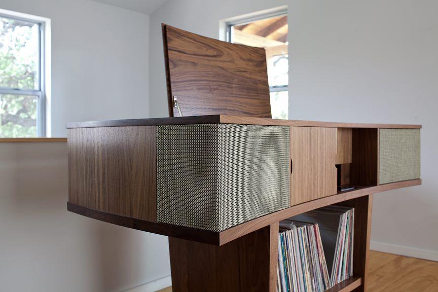 Stereo cabinet by Mark Macek Furniture
