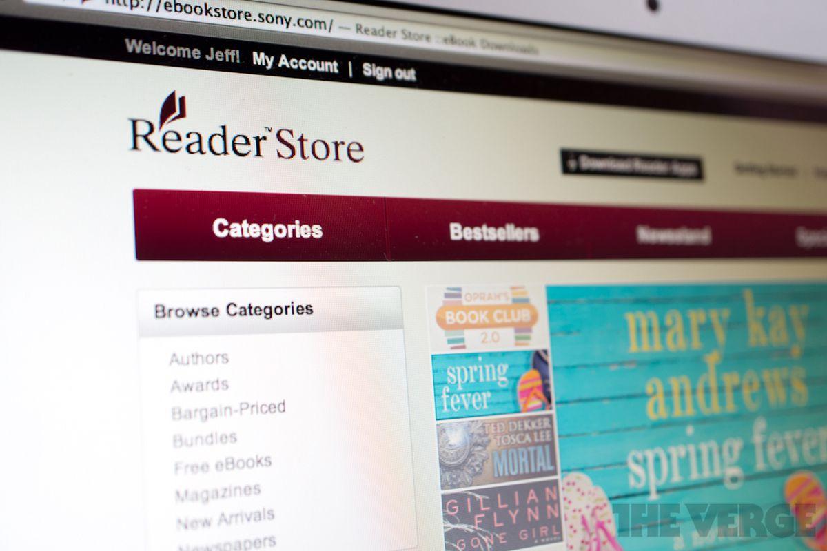 sony reader store 1020