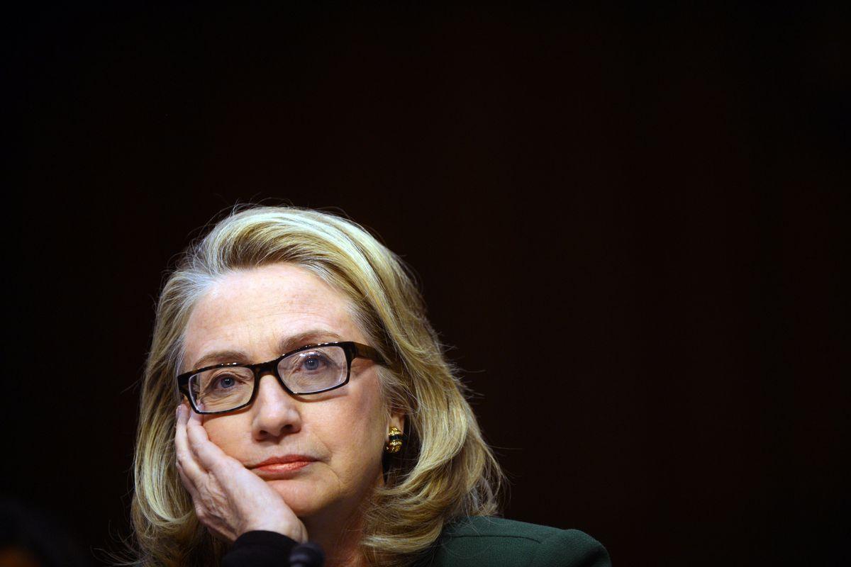 Hillary Clinton at a cognressional hearing.