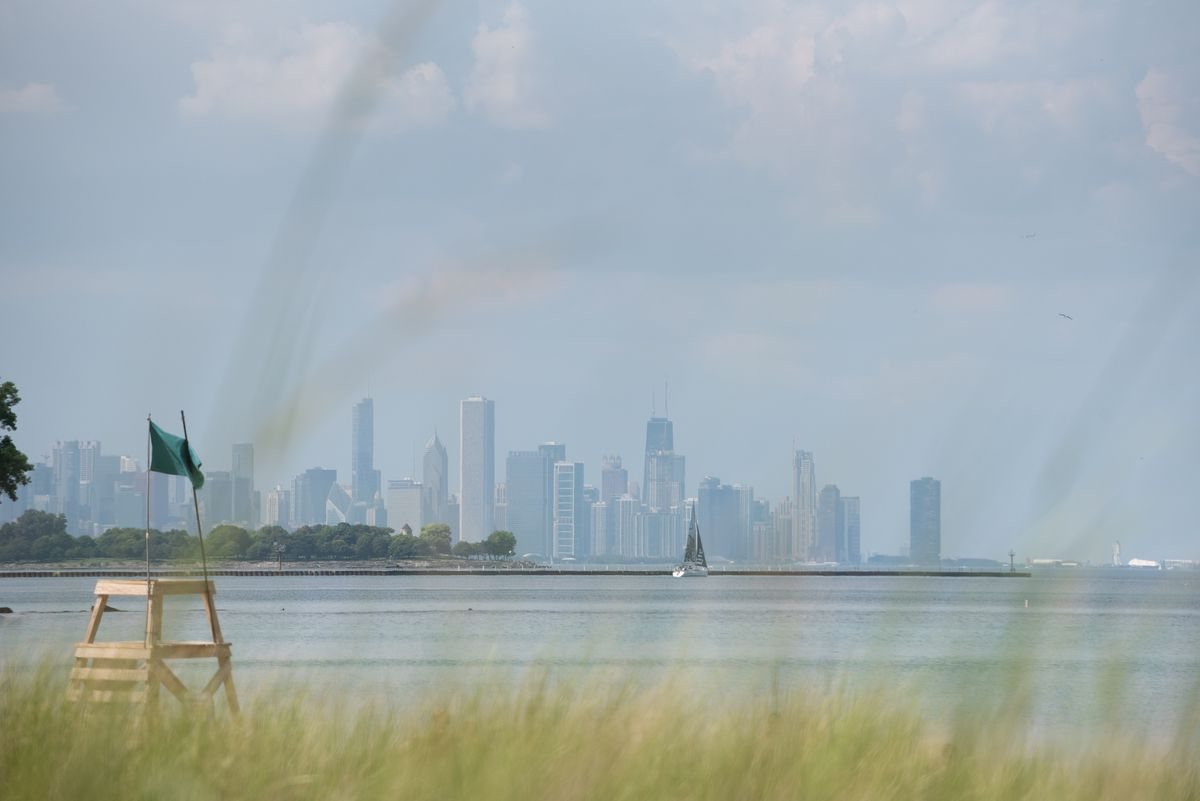 The Chicago skyline from the South Shore Nature Sanctuary. | Colin Boyle/Sun-Times