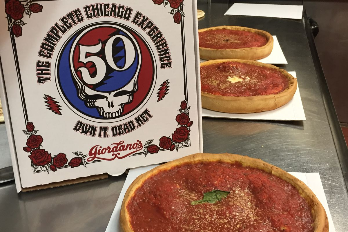 Giordano's Grateful Dead pizza box