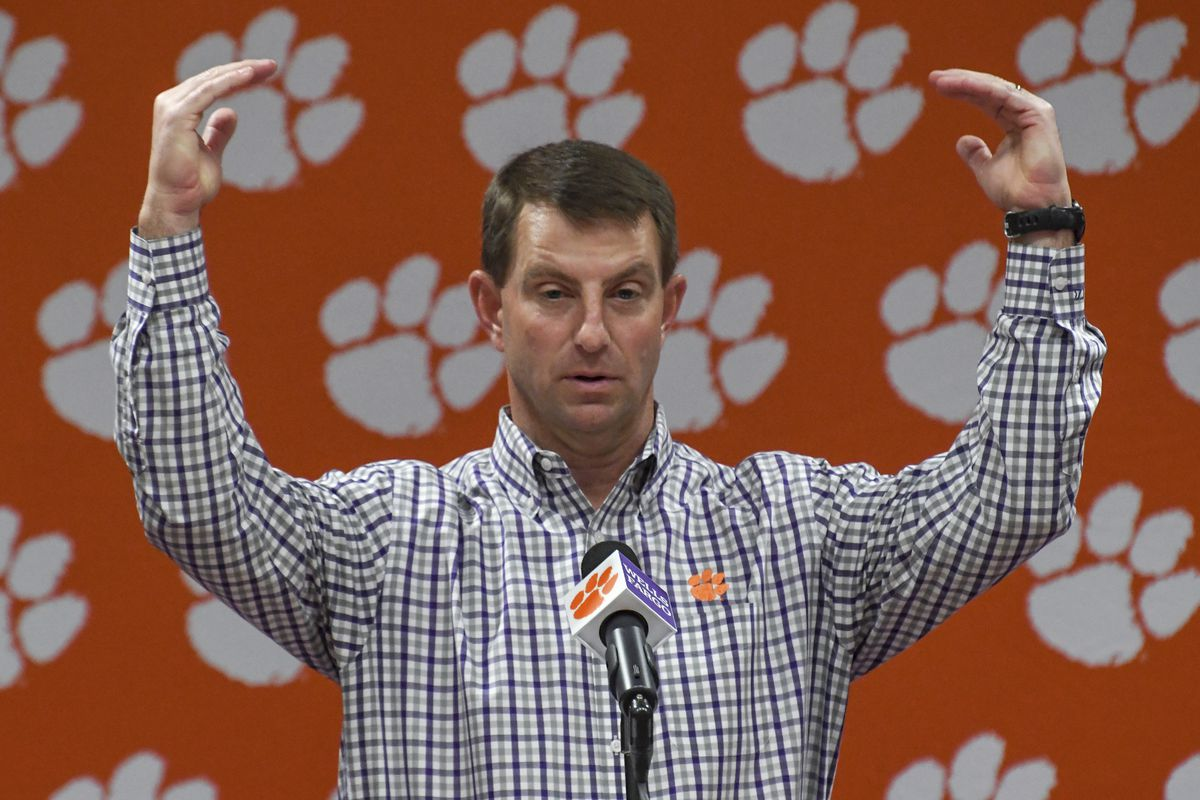 Coach Dabo Swinney and Clemson are the preseason No. 1 in the coaches poll.