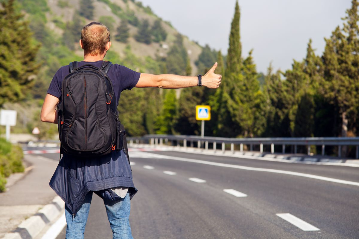 Image result for hitchhike