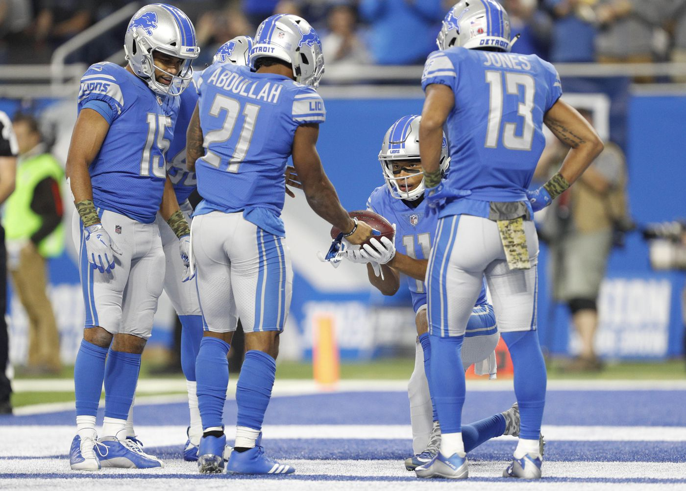 sports shoes ac136 a8c82 Ranking the 5 Detroit Lions uniforms from the 2017 season ...