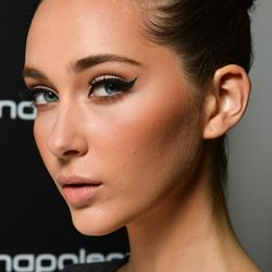 <b>Experiment with liquid liner for day and night.</b> An inky matte liner is a makeup bag must-have for spring 2014. Customize your liner look by keeping it crisp or smudging it for a softer finish. Pair with a bold orange lip and a fab set of lashes for