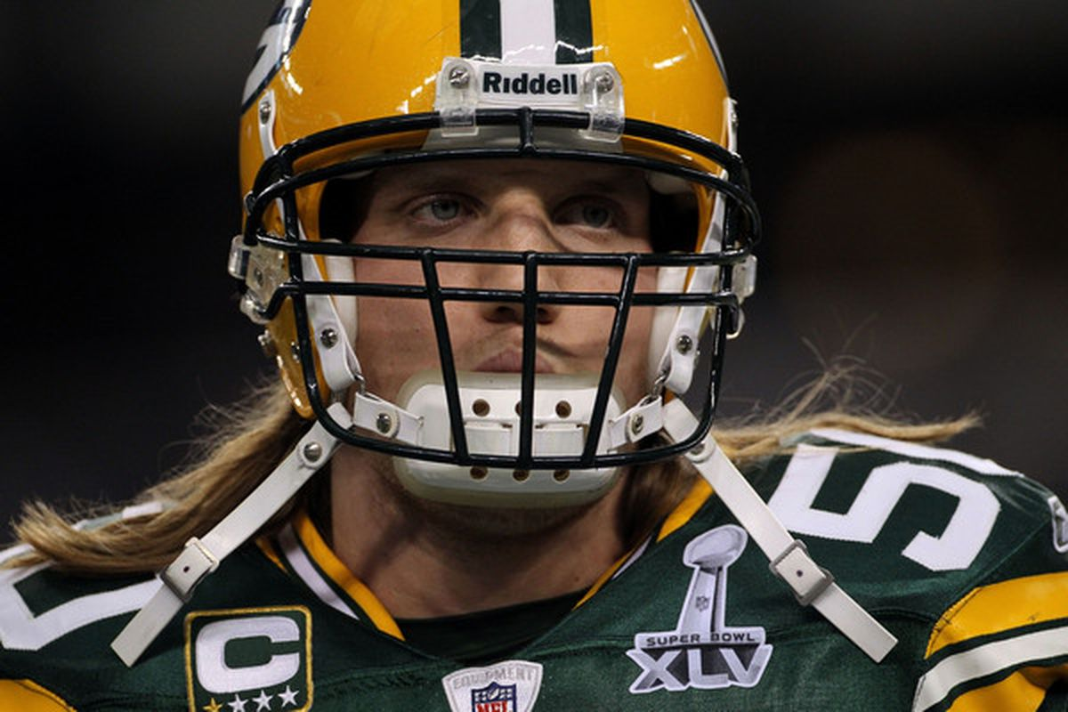 ARLINGTON TX - FEBRUARY 06:  A.J. Hawk #50 of the Green Bay Packers warms up prior to their game against the Pittsburgh Steelers during Super Bowl XLV at Cowboys Stadium on February 6 2011 in Arlington Texas.  (Photo by Doug Pensinger/Getty Images)