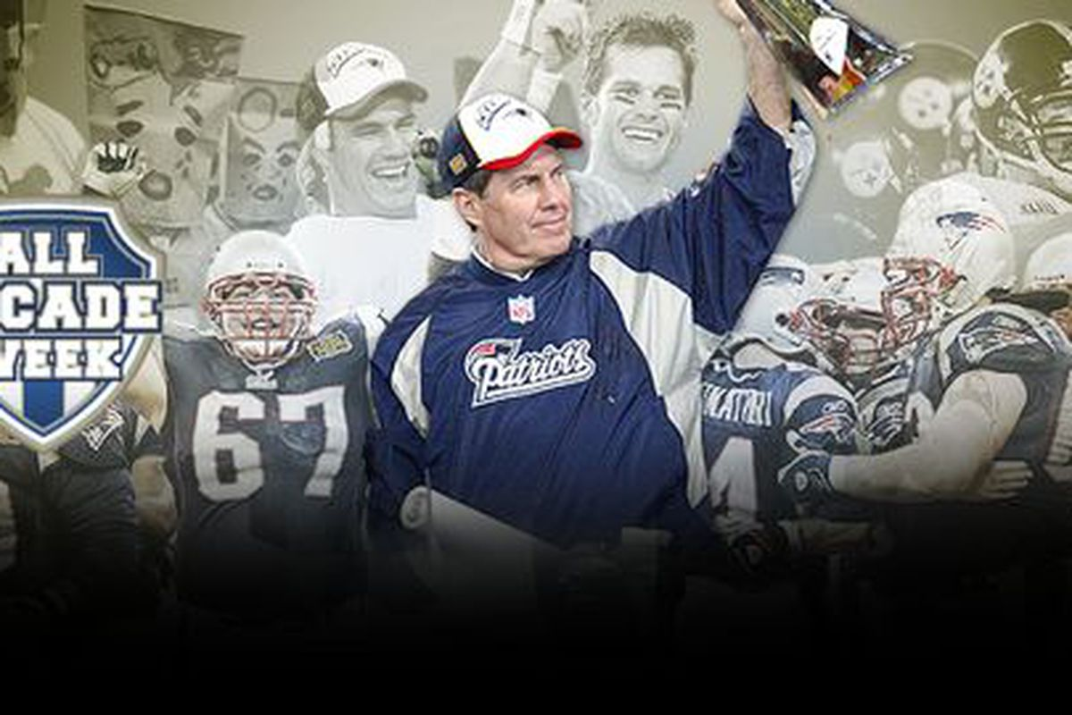 <em>The Patriots won three Super Bowls in four years during the 2000s, leading to all-decade honors for the team, coach Bill Belichick and quarterback Tom Brady.</em>