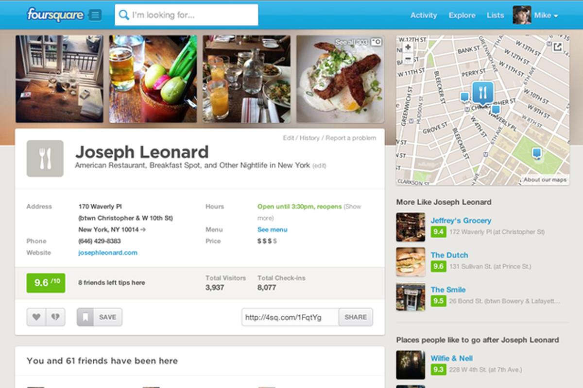 new foursquare web