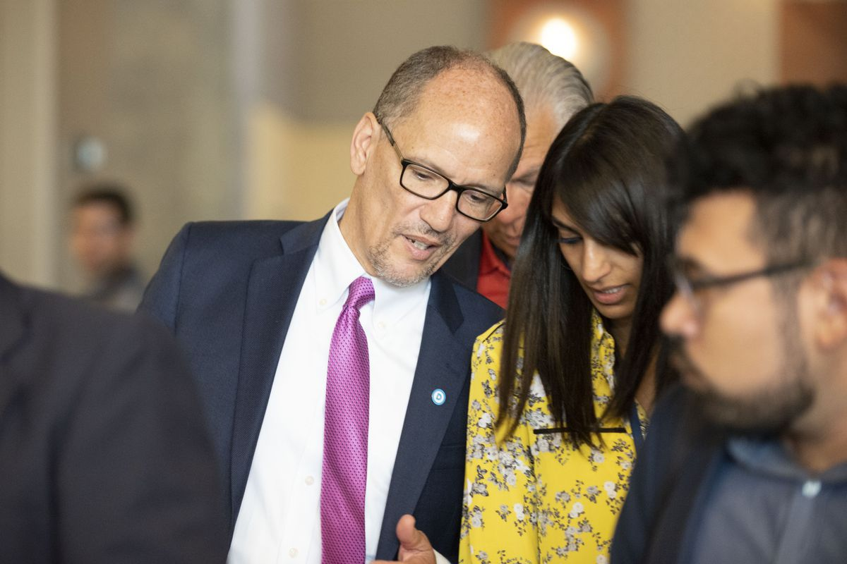 DNC President Tom Perez in attendance at the DNC summer meeting in Chicago on August 23, 2018. | Colin Boyle/Sun-Times