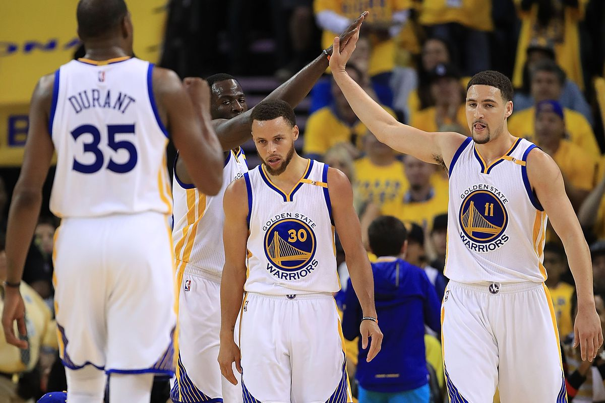 check out 742d2 22a66 Explain One Play: Stephen Curry, Klay Thompson mix up J.R. ...