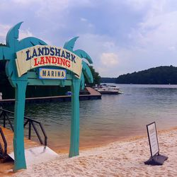 Welcome to LandShark Landing, y'all. It's obviously named after Buffett's song-inspired lager.