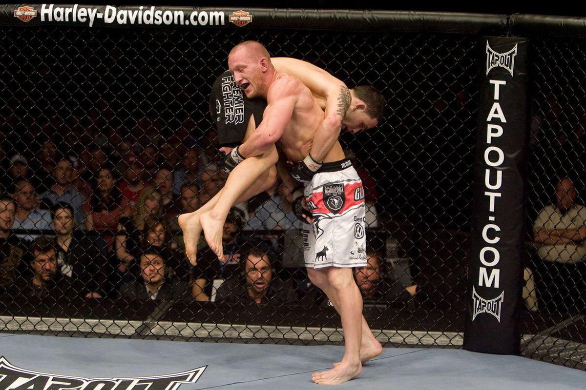 Gray Maynard vs. Frankie Edgar UFC Fight Night 13, Photo by Josh Hedges, Zuffa LLC, via Getty Images.