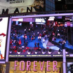 The Forever 21 mega-cam across Broadway.
