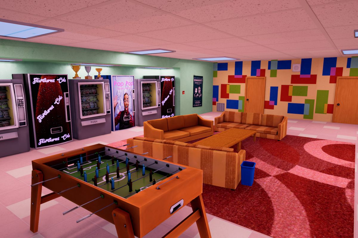 6 Seasons and a Game - a faithful replication of Community's familiar hangout spot.