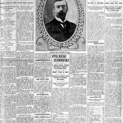 The Deseret News front page for Jan. 4, 1909. William Spry's first inauguration as governor.