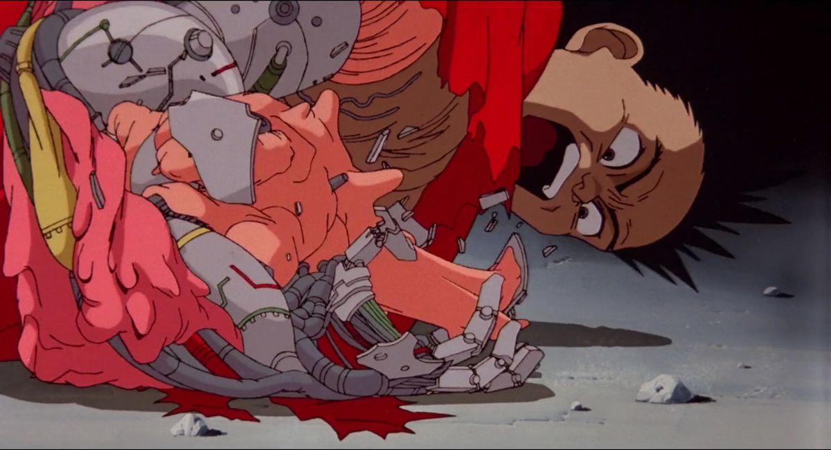 Akira: tetsuo transforms into a blob