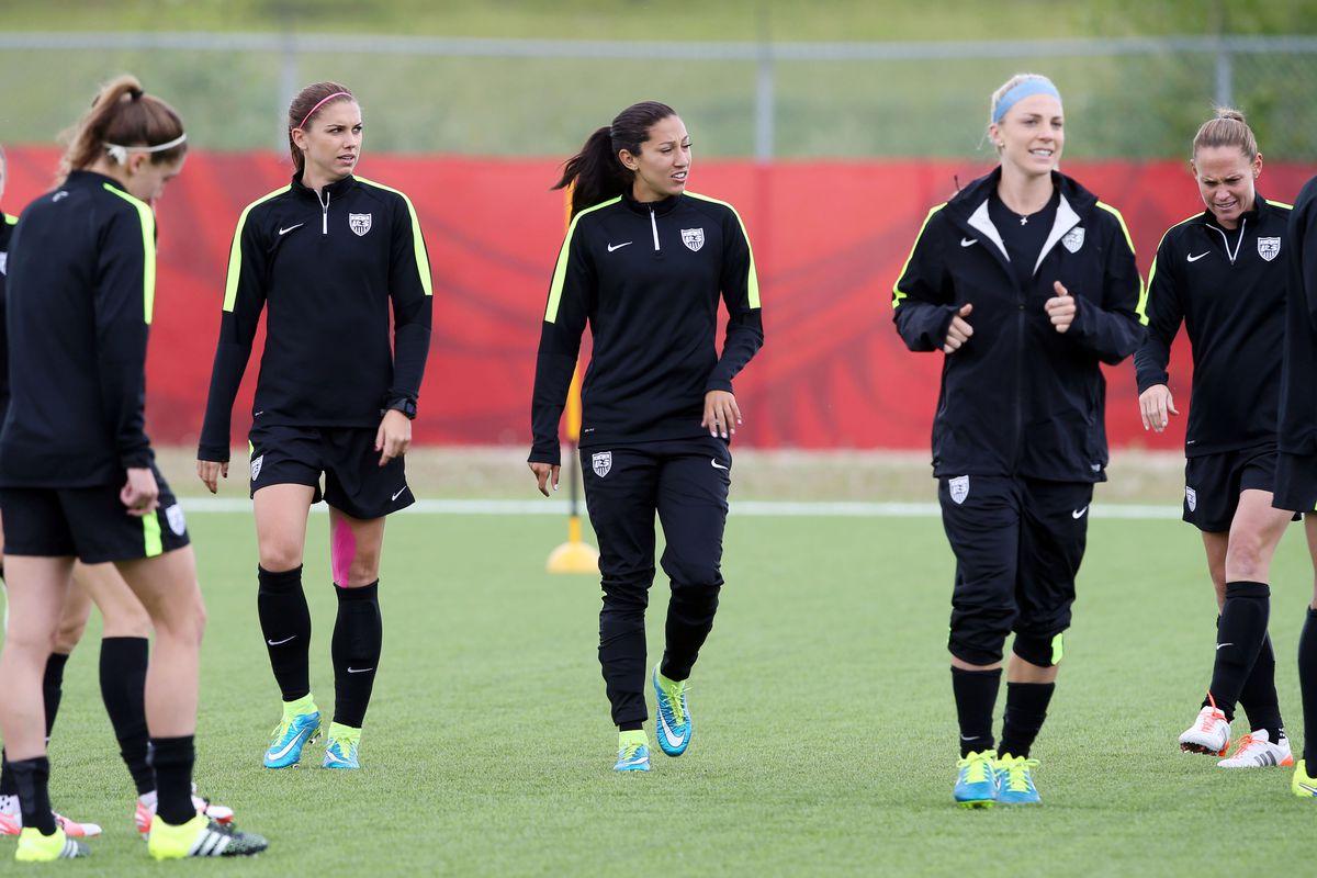 Soccer: Women's World Cup-Training USA