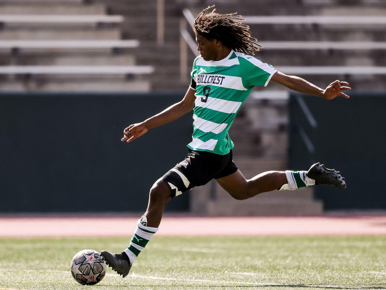 High school boys soccer: Hilario Cruz hat trick leads Hillcrest past Highland in first round of 5A playoffs