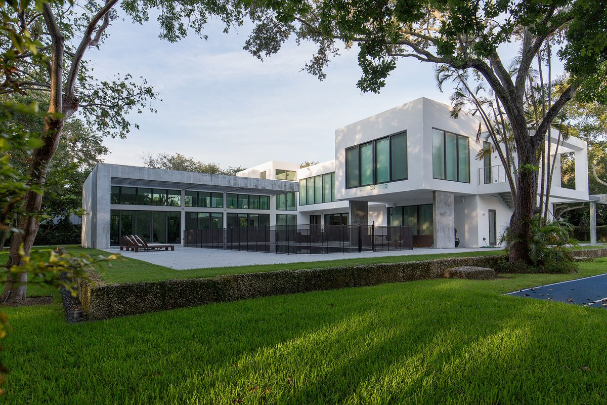 A contemporary home in Coral Gables that has been in several commercials