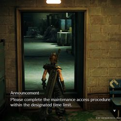 Disable the fan via the control room to pick up the red Materia