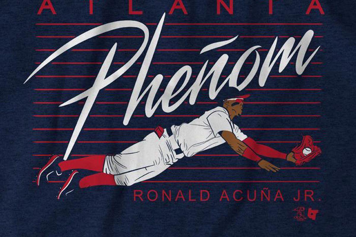 premium selection 9e376 a7657 Get your Ronald Acuña Jr 'Atlanta Pheñom' t-shirt from ...