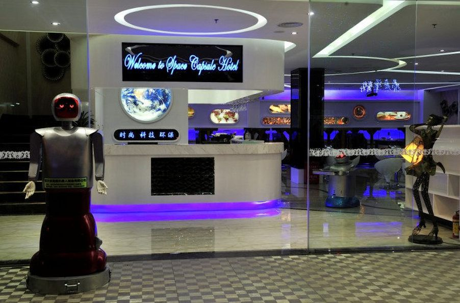 Behold A Space Themed Robot Staffed Hotel In China Eater