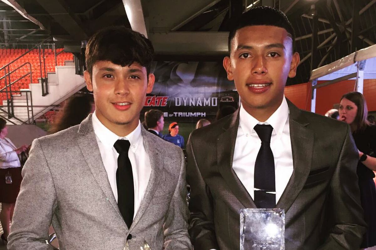 """The first two official members of RGVFC, Christian Lucatero, left, and Juan """"Charly"""" Flores."""