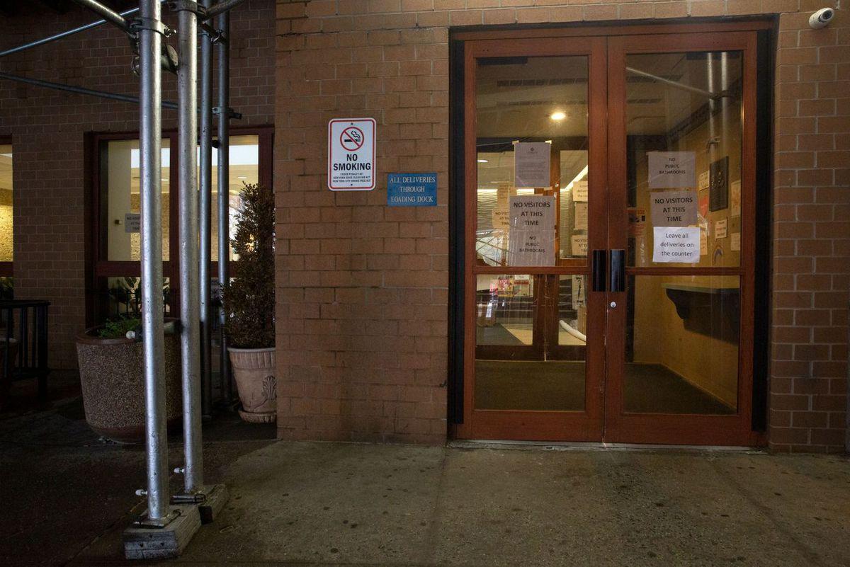 The Hamilton Park Nursing and Rehabilitation Center was blocking visitors during the coronavirus outbreak.