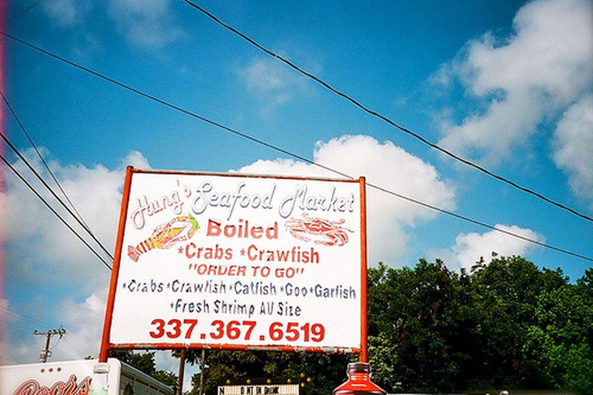 Hung's Seafood in New Iberia, Louisiana.