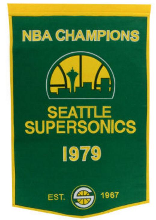 Seattle Supersonics 1979 Championship Banner