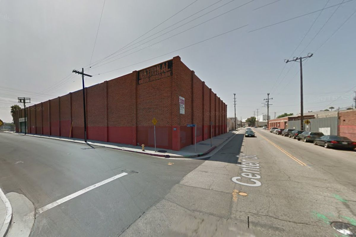 Large brick structure in Arts District