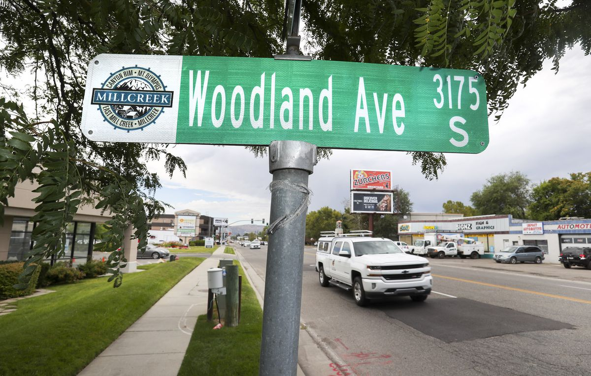 The intersection at Woodland Avenue and Highland Drive in Millcreek is pictured on Tuesday, Sept. 3, 2019. Salt Lake City and Millcreek have announced a new boundary adjustment agreement, on this block between Woodland Avenue and Miller Avenue and 1300 East and Highland Drive, that facilitates Millcreek's city center plans and meets other mutual needs.