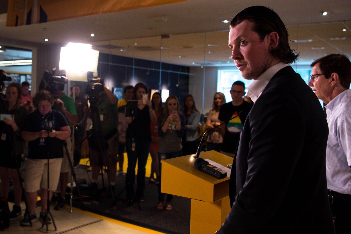 NHL: Ryan Johansen Nashville Press Conference