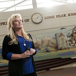 Lone Peak High School Principal Rhonda Bromley, photographed at Lone Peak High School in Highland on Tuesday, Dec. 6, 2016, prides her school's proactive approach toward addressing suicide and mental illness.