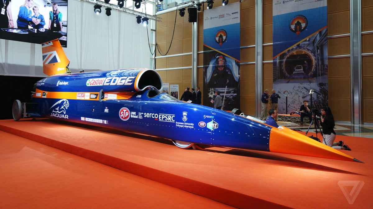 This is the Bloodhound SSC, a 1,000mph rocket on wheels