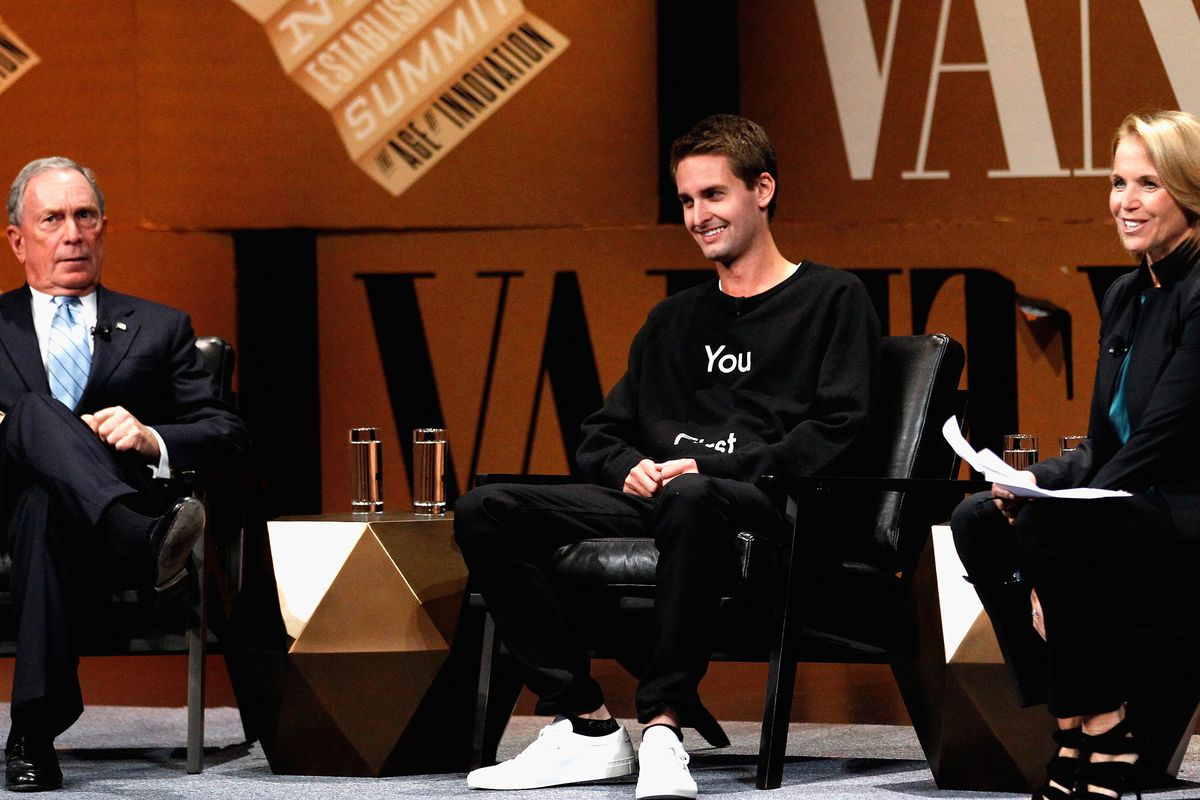 Evan Spiegel and Mike Bloomberg on Sexting and Dealing With the Haters