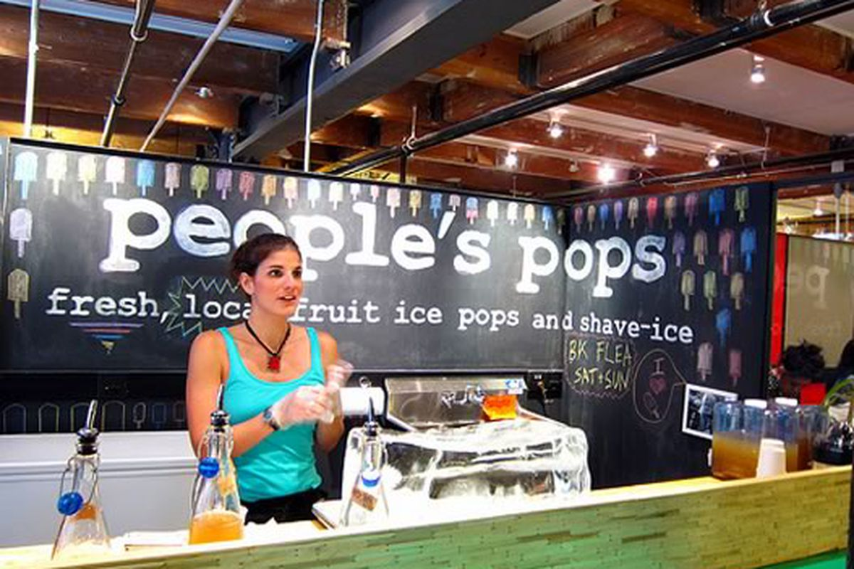 People's Pops stand in Chelsea Market, NYC