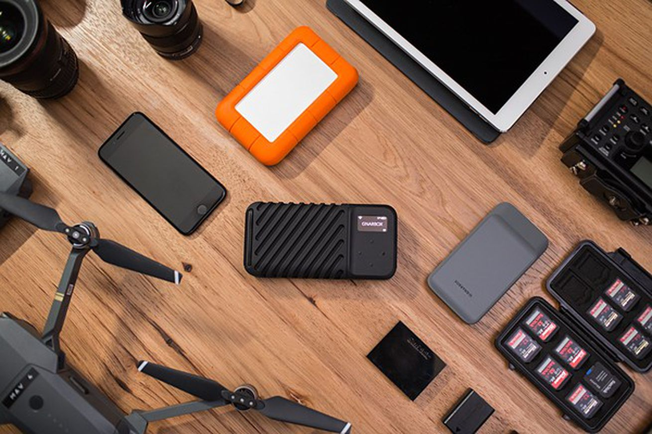 This hard drive offers 1TB of storage for photos and an app that lets you edit on the go